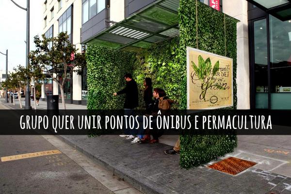 No Paraná, grupo quer criar pontos de ônibuspermaculturais